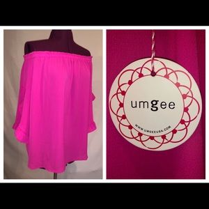 NWT Designer Umgee Open Shoulder Top